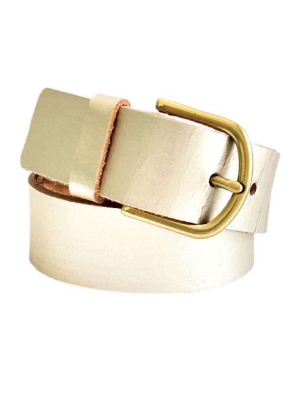 Fossil | חגורת עור זהב פוסיל