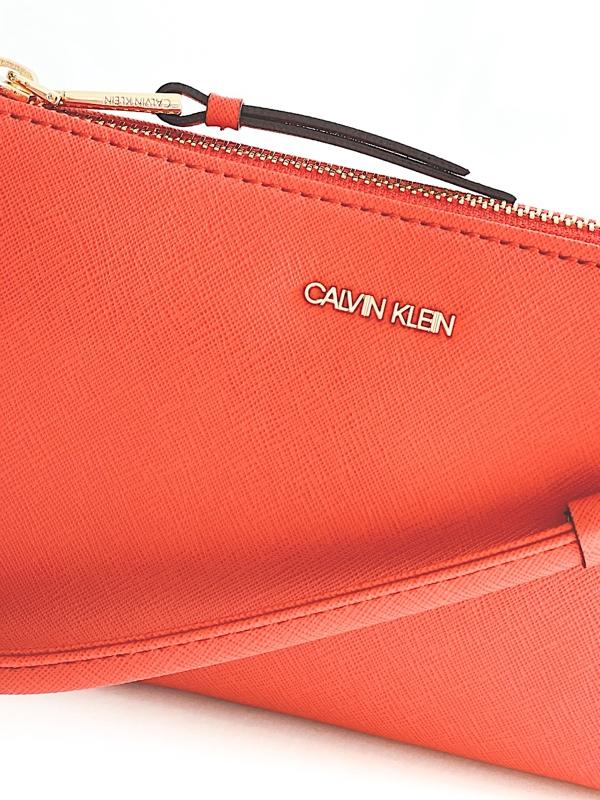 Calvin Klein   תיק צד קטן כתום קלוין קליין