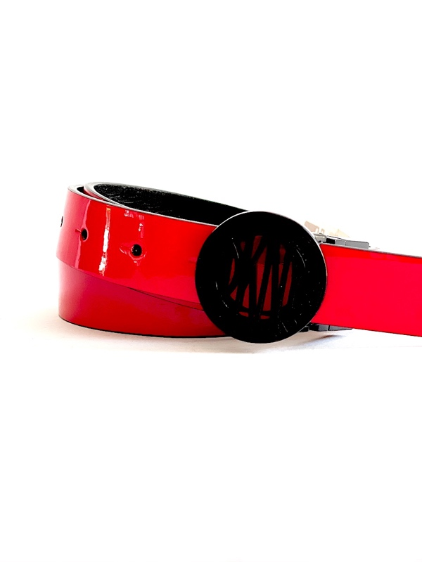 DKNY-Donna Karan | חגורה דוצדדית אדום/שחור דונה קארן