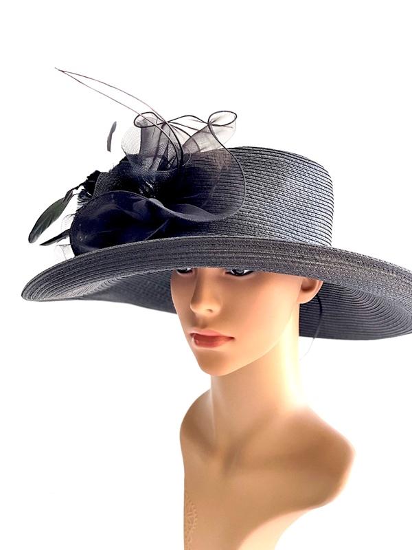 August Hat   כובע שחור מיוחד ואלגנטי אוגוסט הט