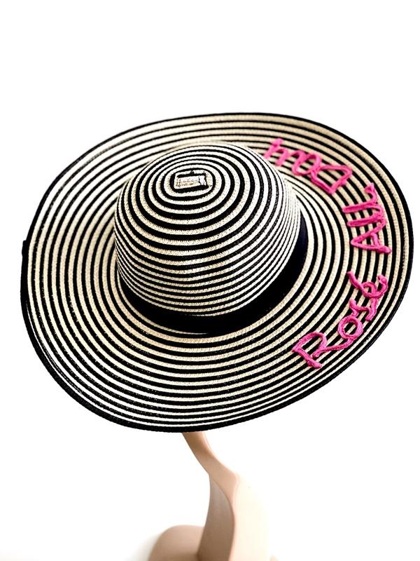 August Hat   כובע קש/שחור אוגוסט הט