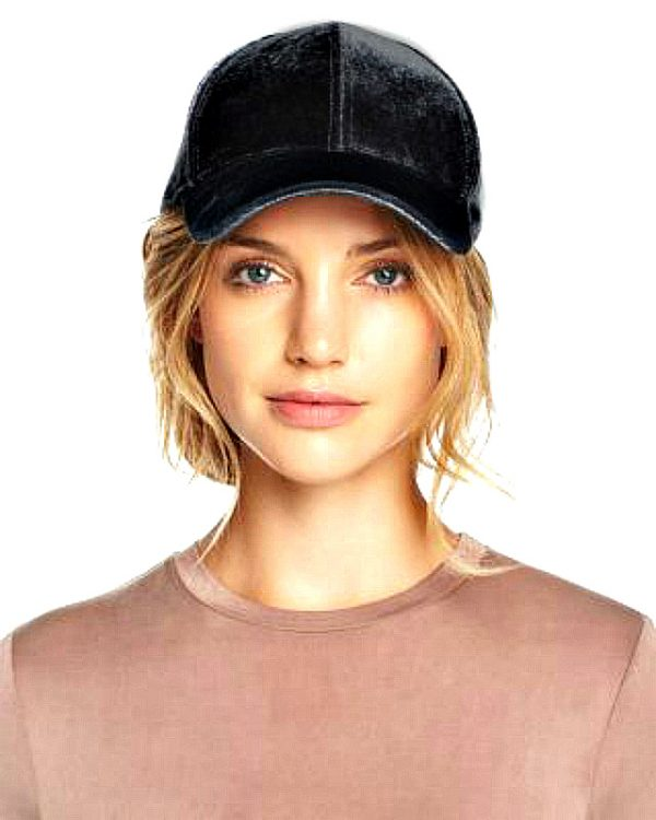 Echo   כובע קסקט קטיפה שחור אצ'ו