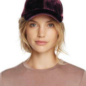Echo | כובע קסקט קטיפה בורדו אצ'ו