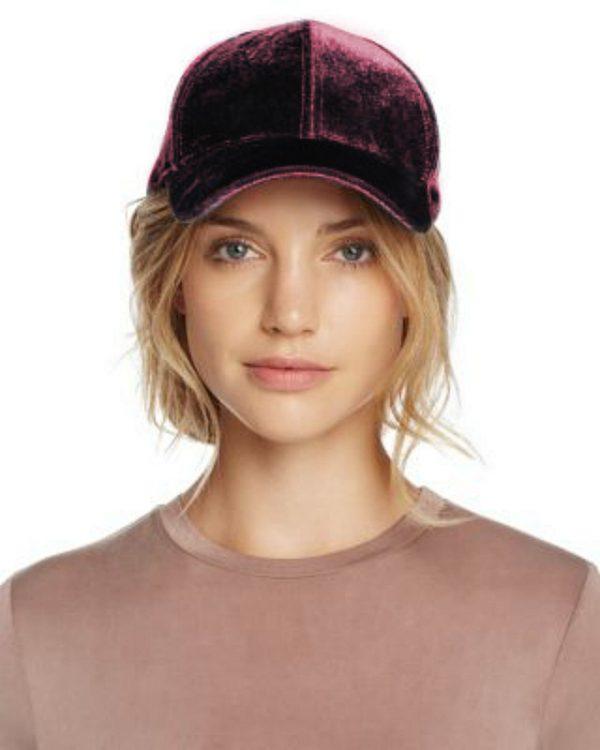 Echo   כובע קסקט קטיפה בורדו אצ'ו