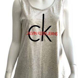 Calvin Klein | חולצת לוגו אפורה קלווין קליין