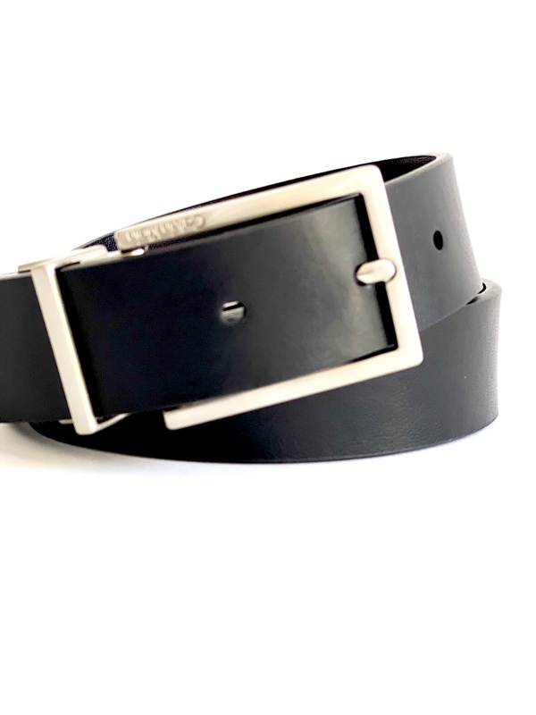 Calvin Klein   חגורה דו צדדית שחור/חום קלוין קליין