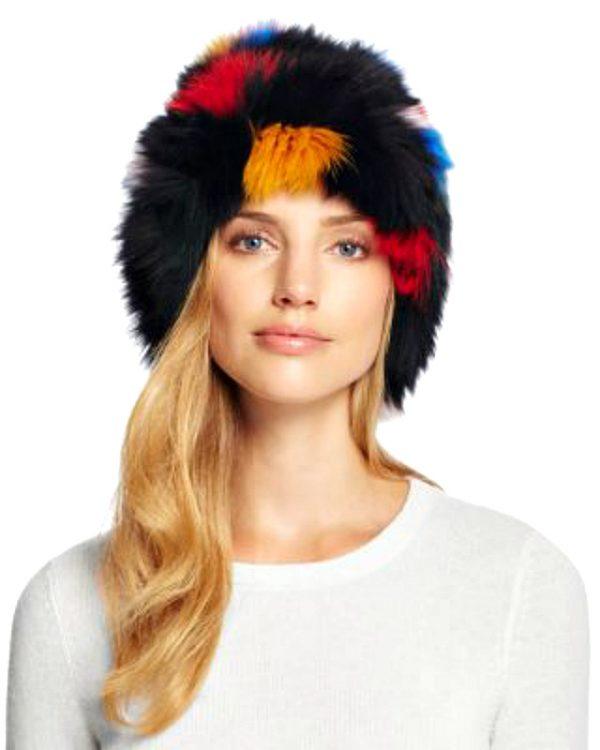 Loeffler Randall   כובע פרווה יוקרתי לואפלר ראנדל