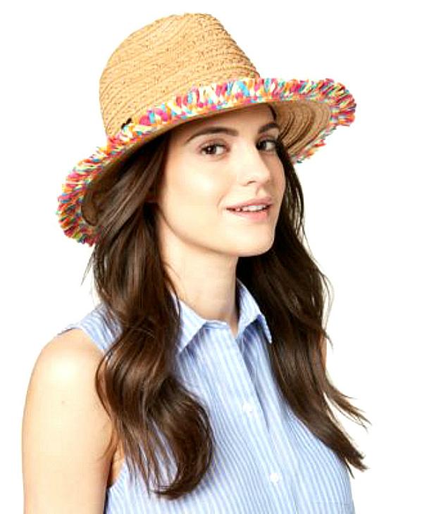 Betsey Johnson   כובע קש מיוחד בטסי ג'ונסון