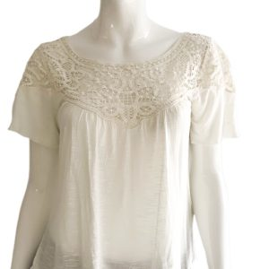Ralph Lauren   חולצת אנטיק קרים ראלף לורן