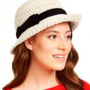 INC | כובע בז׳ מעוצב איאנסי