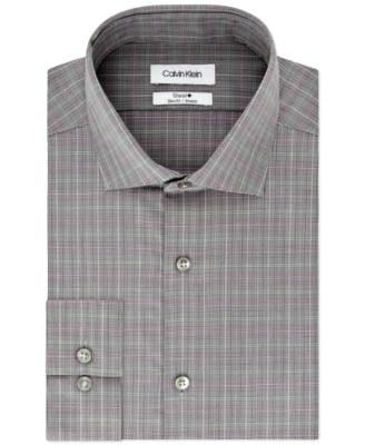 Calvin Klein | חולצת משבצות אפורה קלווין קליין