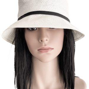 Nine West | כובע קש לבן אופנתי ניין ווסט