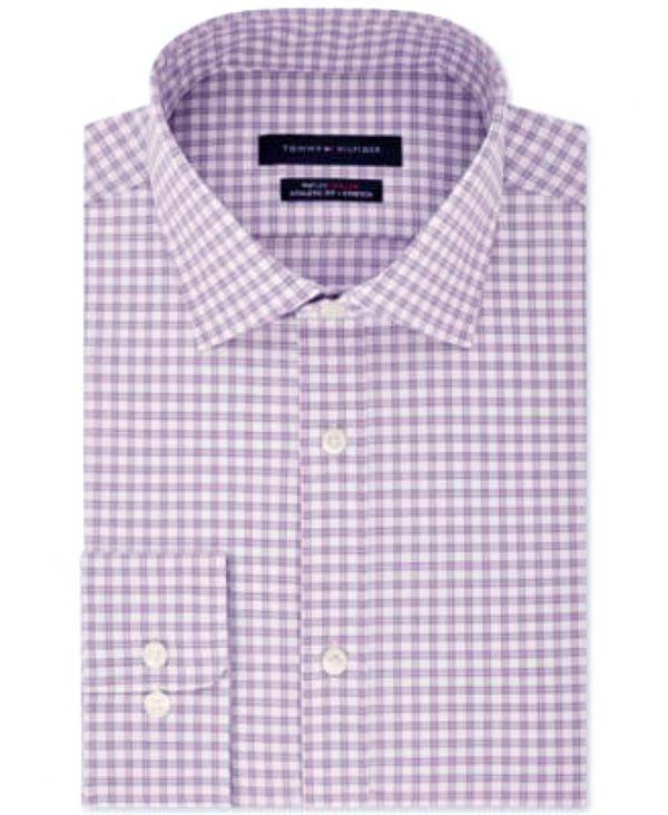 Tommy Hilfiger   חולצת משבצות סגול בהיר טומי הילפיגר